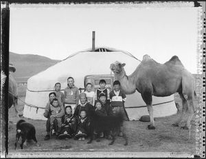 Nomadic Family, Western Mongolia (Nomadic Mongolia #29), 2003. © Elaine Ling
