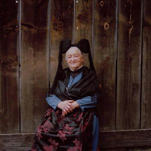 Mina Rheinbold, Black Forest, 2011. From the series: The last women in their traditional peasant garbs