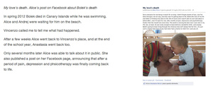My love's death. Alice's post on Facebook about Bolek's death