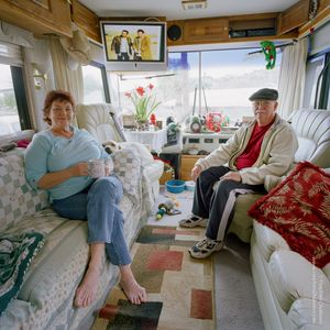 Thomas Haskin (64) + Nancy Haskin (64), from the series, Transience © Stephen Chalmers