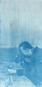 "Canon Rebel, 2014. From the series ""Cyanotypes."" Showing at Roman Road. Courtesy of PhotoLondon."