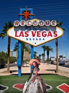 "From the series ""Scarlett America: American Wanderings of a Cardboard Stand-up"",Scarlett in Las Vegas, Nevada, August 2008"