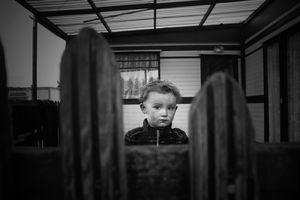 Boy on his Porch