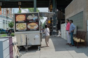 The Momo Cart, Jackson Heights, NY.