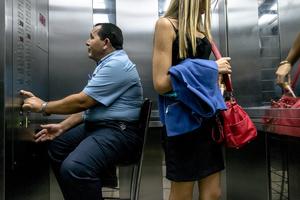 Luiz Pedro, liftman / Avenida Presidente Vargas 590