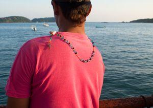 Fisherman at Playa Linda. Ixtapa.