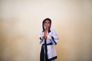 Gabriel representing Michoacan boxing team. Zihuatanejo.