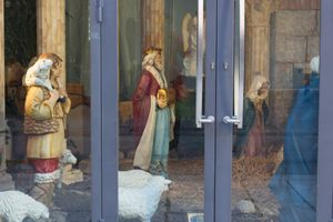 The Three Wise Men in a shopwindow