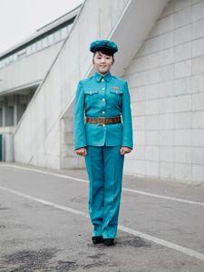 Guard in Blue, Pyongyang, North Korea, 2015