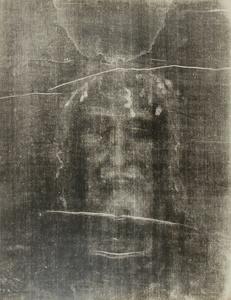 Le Saint Suaire de Turin, negative image. Enlargements by Paul Vignon from photographs taken by Giuseppe Enrie (1931-1933 © Institut Catholique in Paris