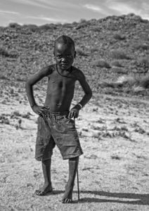 Young Himba worrier