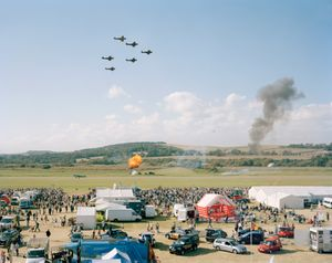 Battle of Britain Memorial Flight, Shoreham Air Show, West Sussex from Merrie Albion (2007-2017). © Simon Roberts. Courtesy the artist. Photo London Talks 2018, Theatre of the Real – Simon Roberts, Thursday 17 May 2018, 2pm-3pm.
