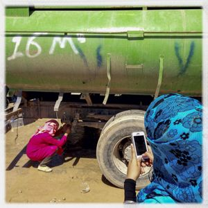 iPhone photography assingment with teenagers in Za'atari, Jordan