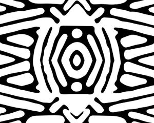View from Inside a Security Envelope (Art Deco Pattern 1)