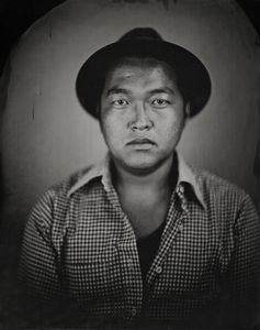 """Shimpei."" 11x14""  Wet-plate collodion tintype. © 2010 Keliy Anderson-Staley"