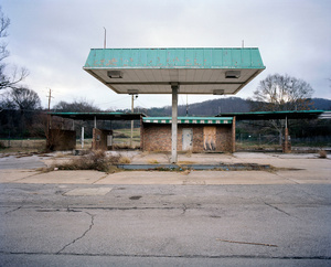 Abandoned gas station. WEST ANNISTON, ALABAMA. 2012
