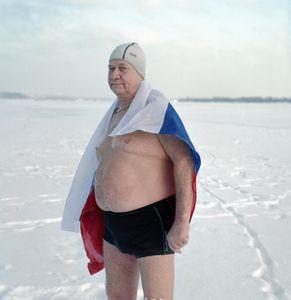 Ice swimmer, Perm, Russia 2107