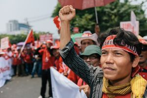 Anti-government, United Front for Democracy Against Dictatorship, protesters in Bangkok