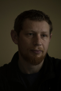Yurko, 30, menager, master of philosophy, was taken after he spent 3 months in the war zone, March 2015, Ukraine.