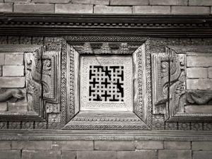 Stone window at Gorkha palace