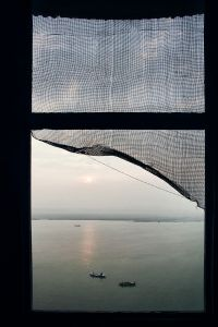 Varanasi, India: A view of the holy river of Ganges as seen from an abandoned palace in Varanasi. © Matjaz Krivic