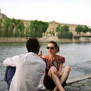 "Franck, Model and Fashion Designer  Quai Malaquais, July 2007, from the series ""A Husband in Paris"" © Katarina Radovic"