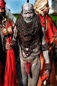 Haridwar, India.  Kumbah Mela festival 2010.