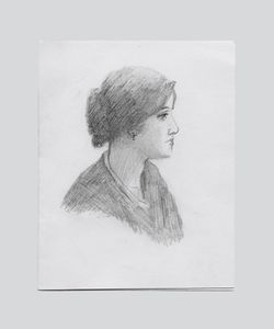 Pencil Sketch of a Woman sent from Death Row © Amy Elkins