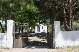 Campground in a churchyard near Lamia, Central Greece