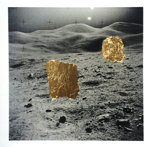 """Apollo Mistake #7"", Unique Archival Pigment Print with Gold Leaf. From the series the 'Annihilation of Space and Time'."