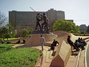 The Miners' Monument, Braamfontein, 2013. Courtesy of Stevenson Gallery, Capetown/Johannesburg and Yossi Milo, New York.