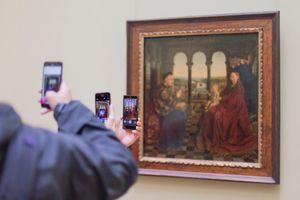 Madonna of Chancellor Rolin, Jan van Eyck, c. 1435. Louvre Museum (Paris, France)