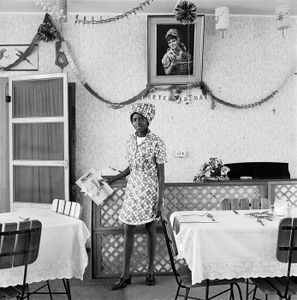 Waitress, Bezuidenhout Park. November 1973 © David Goldblatt