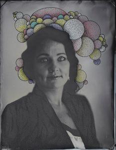 © Zelko Nedic, Madam Dimples     8x10 Tintype, Hand Coloured