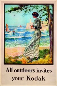 All Outdoors Invites Your Kodak, British advertising poster, c. 1918.