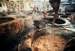 Fes, Morocco: Moroccan leather was famous around the world already in the middle ages. The way they work in the tanneries in the old part of the city has not changed over the centuries © Matjaz Krivic