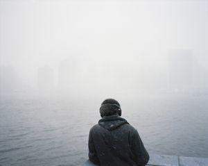 Snowstorm, East River, 2013