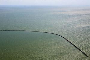 "Dike for future polder IJsselmeer, inner sea (Zuyder Sea). From the book ""The Low Land"" © Siebe Swart"