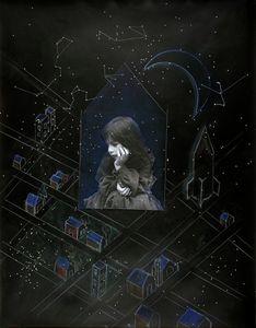 Julia and Window of Vulnerability (II), silver print with chalk pastel, 1983, ©Joanne Leonard.  Collection of Wanda and Joe Corn