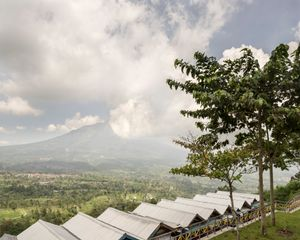 Restaurants, Ketep pass, Magelang, Central Java