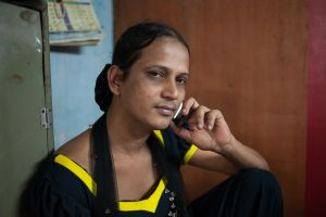 Manisha, a hijra who works for The Humsafar Trust in the King's Circle area  © Alison McCauley