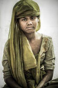 The homeless children. Many Hindu girls are living on the streets, homeless but they retain their beauty.