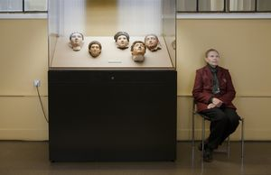 2nd-Century Mummy Masks, Pushkin State Museum of Fine Arts, 2009. From the series, Guardians © Andy Freeberg