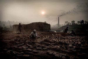 The brick field. Brick Factory, Nepal