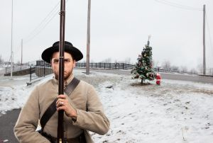 Jonathan Harris standing guard, Perryville, KY, 2010.