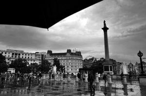 Trafalgar Square After the Rains
