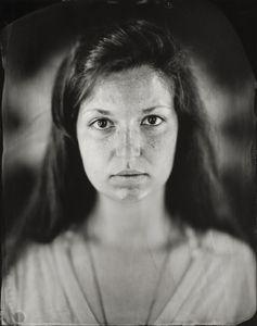 """""""Ellie."""" 11x14"""" Wet-plate collodion tintype. © 2010 Keliy Anderson-Staley"""