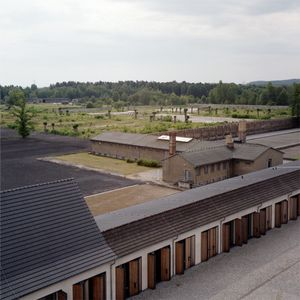 Garage Complex and View over Part of Camp, Ravensbrück Memorial and Museum
