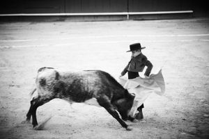 """""""Cristóbal Arenas Moncayo is 10 years old. To fight a bull is something beautiful, there are a lot of emotions, adrenaline, excitement and the danger is always there. As a torero you are always afraid but this is normal, it makes you stronger and helps you to take control of your fears, from that point you move ahead"""". From the Series """"The little Bullfighters of Mexico"""""""