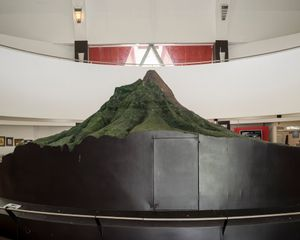 Model of Mount Merapi at Merapi museum